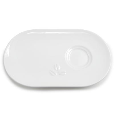 Sous-tasse design ovale 6,5 cl x 12 pcs