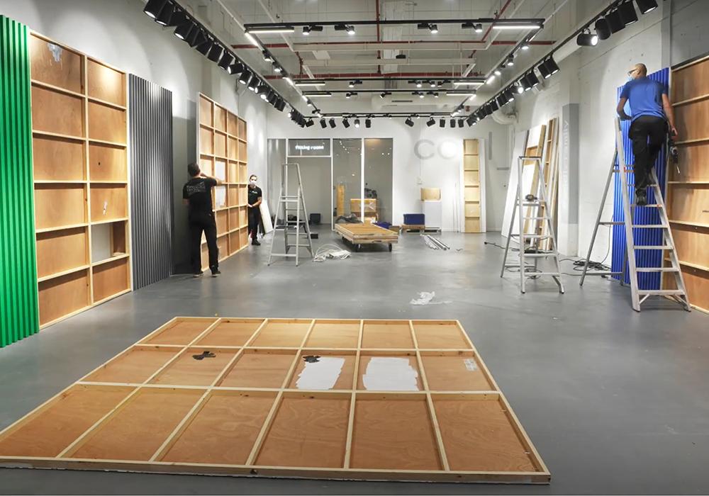 Behind the scenes: opbouw van de Bruynooghe concept store