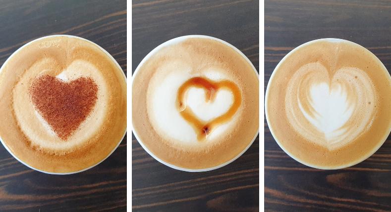 3 eenvoudige koffiehartjes voor Valentijn